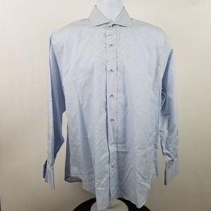 Robert Talbott Carmel Blue White Check Dress Shirt